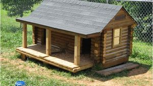 Log Cabin Dog House Plans Next Diy Log Dog House Summer