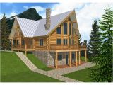 Log Home Floor Plans with Garage and Basement Mountview A Frame Log Home Plan 088d 0003 House Plans