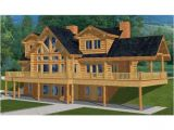 Log Homes with Basement Floor Plans Two Story House Plan with Walkout Basement Log House