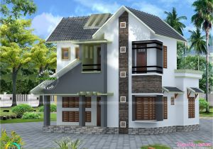 Low Budget Home Plans In Kerala Home Architecture Slope Roof Low Cost Home Design Kerala