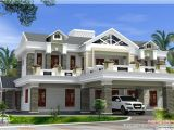 Luxurious Home Plans Sloping Roof Mix Luxury Home Design Kerala Home Design