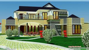 Luxury Home Plan Designs 5 Bedroom Luxury Home In 2900 Sq Feet Kerala Home