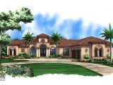 Luxury Mediterranean Home Plans with Photos Mediterranean House Plan 1 Story Mediterranean Luxury