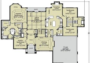 Luxury Ranch Home Plans Open Ranch Style Home Floor Plan Luxury Ranch Style Home