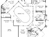 Luxury Ranch House Plans with Indoor Pool Home Plans with Indoor Lap Pool