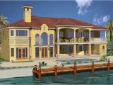 Luxury Waterfront Home Plans Luxury Spanish Mediterranean Style Waterfront Home Plan