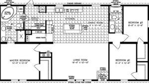 Manufactured Home Floor Plans 3 Bedroom 2 Bath 3 Bedroom Mobile Home Floor Plan Bedroom Mobile Homes
