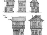 Medieval Home Plans Medieval Houses Sketches by Rhynn Deviantart Com On