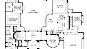 Mediterranean Courtyard Home Plans Home Plans Homepw12595 6 626 Square Feet 5 Bedroom 5