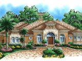 Mediterranean Custom Homes Floor Plans Mediterranean House Plan Waterfront Golf Course Home