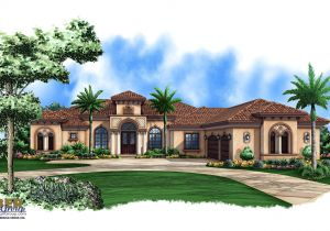 Mediterranean Homes Plans Mediterranean House Plan 1 Story Mediterranean Luxury