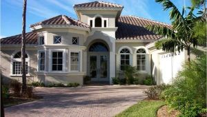 Mediterranean Style Home Plans Mediterranean Home Design with Cream Wall Paint Color