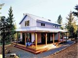 Metal House Plans with Wrap Around Porch Cosy Metal Building Cabin W Wrap Around Porch Plans