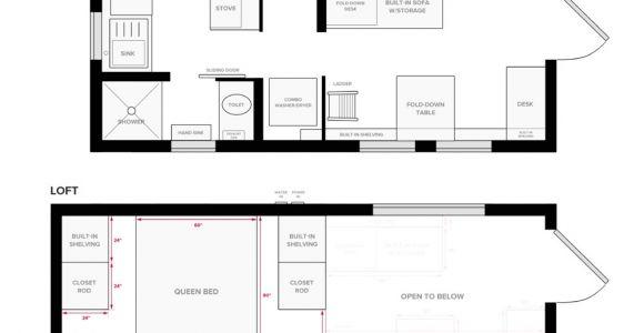 Micro Home Floor Plans Tiny House On Wheels Floor Plans Blueprint for Construction