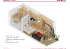 Micro Housing Plans Studio Apartment Floor Plans