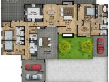 Mid Century Modern Homes Floor Plans Mid Century Modern House Plan with Courtyard 430010ly