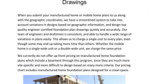 Mobile Home Foundation Plans Manufactured Home Foundation Plan Drawings by Foundation