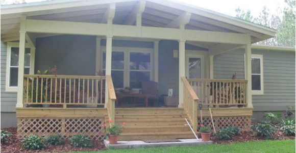 Mobile Home Front Porch Plans 45 Great Manufactured Home Porch Designs