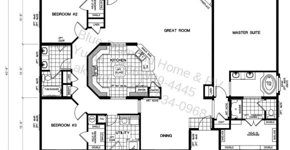 Mobile Home Plans Triple Wide Manufactured Home Floor Plans Lock You