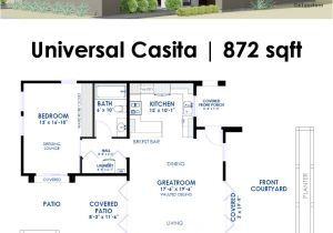 Moder House Plans Universal Casita House Plan 61custom Contemporary