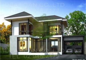 Modern Contemporary Home Plans Modern Two Story House Plans