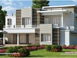 Modern Flat Roof Home Plans Beautiful sober Color Contemporary Home Design Kerala