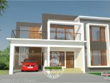Modern Flat Roof Home Plans Modern Flat Roof Residence with Plan Kerala Home Design