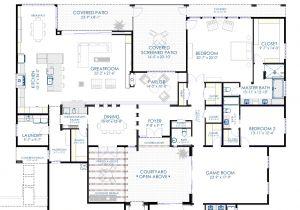 Modern Home Design Plans Contemporary Courtyard House Plan 61custom Modern