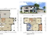 Modern Home Floor Plans Designs 2 Storey Modern House Design with Floor Plan