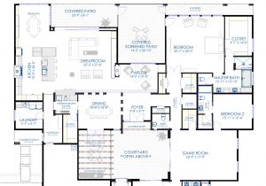 Modern Home Layout Plans Contemporary Courtyard House Plan 61custom Modern