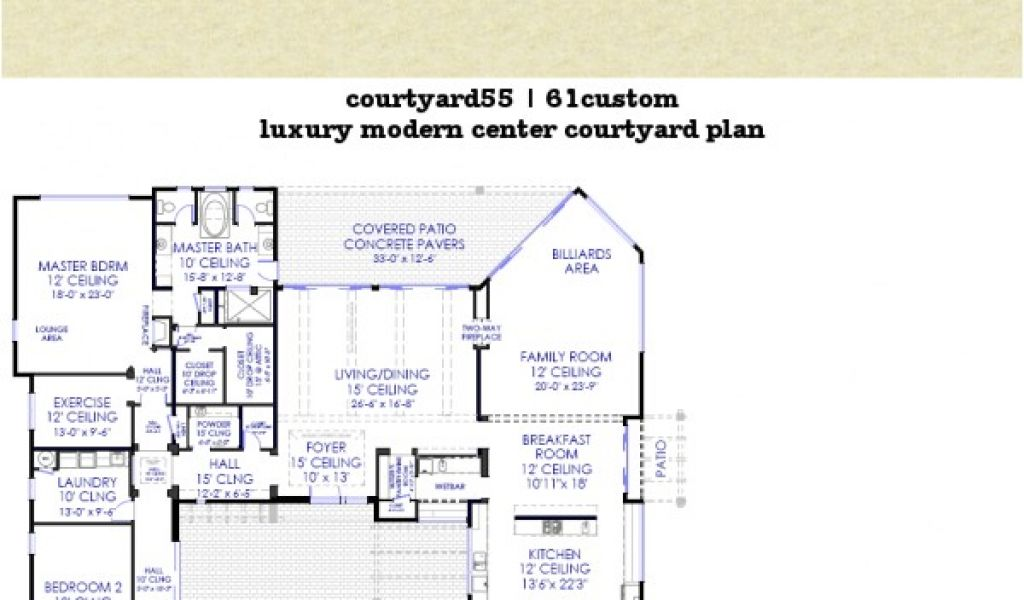 . Modern Home Plans with Courtyard Luxury Modern Courtyard House Plan