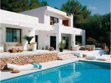 Modern Home Plans with Pool Modern White House Design with Swimming Pool In Ibiza