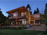 Modern Lakefront Home Plans Grand Glass Lake House with Bold Steel Frame Modern