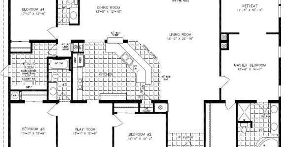 Modular Homes 4 Bedroom Floor Plans Exceptional 4 Bedroom Modular Home Plans 3 4 Bedroom