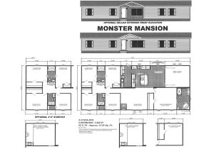 Monster Mansion Mobile Home Floor Plan Mansion Mobile Home Floor Plans House Plan 2017