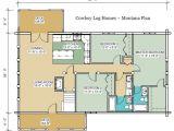 Montana Log Homes Floor Plans Montana Floor Plan 2 056 Sq Ft Cowboy Log Homes