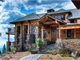Montana Style House Plans Western Rustic Timber Stone Montana Mountain Ski Home