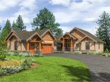 Mountain Home Plan Mountain Craftsman with One Level Living 23705jd