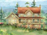 Mountain Home Plan Mountain Home with Wrap Around Porch 26703gg