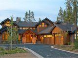Mountain Home Plan Mountain Luxury with Bridge Balcony 54204hu