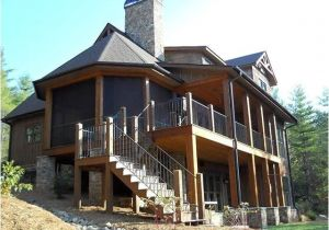 Mountain Home Plans with Basement 4 Bedroom Rustic House Plan with Porches Mountain House