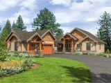 Mountainside House Plans Mountain Craftsman with One Level Living 23705jd