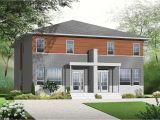 Multi Family House Plans Narrow Lot Narrow Lot Multi Family Home Plan 22327dr