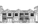 Multi Family House Plans Narrow Lot Narrow Lot Triplex with Front Loading Garages Hwbdo66518