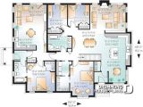 Multi Generational Family Home Plans Multi Family Plan W3043 Detail From Drummondhouseplans Com