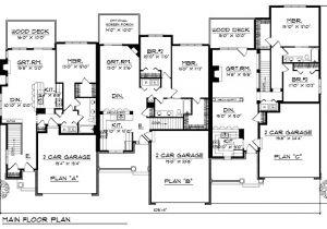 Multi Level Home Floor Plans Multi Family Plan 73483 Familyhomeplans Com