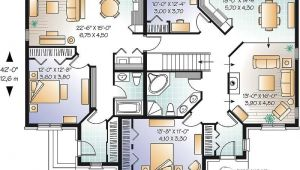 Multiple Family Home Plans Multi Family House Plan Multi Family Home Plans House