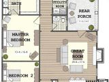 Narrow Home Plans Long Narrow House with Possible Open Floor Plan for the