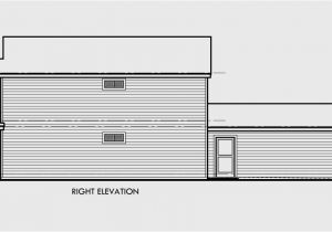 Narrow House Plans with Garage In Back Narrow Lot House Plans House Plans with Rear Garage 9984
