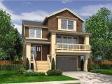 Narrow House Plans with Garage Underneath Narrow Craftsman with Drive Under Garage 23270jd
